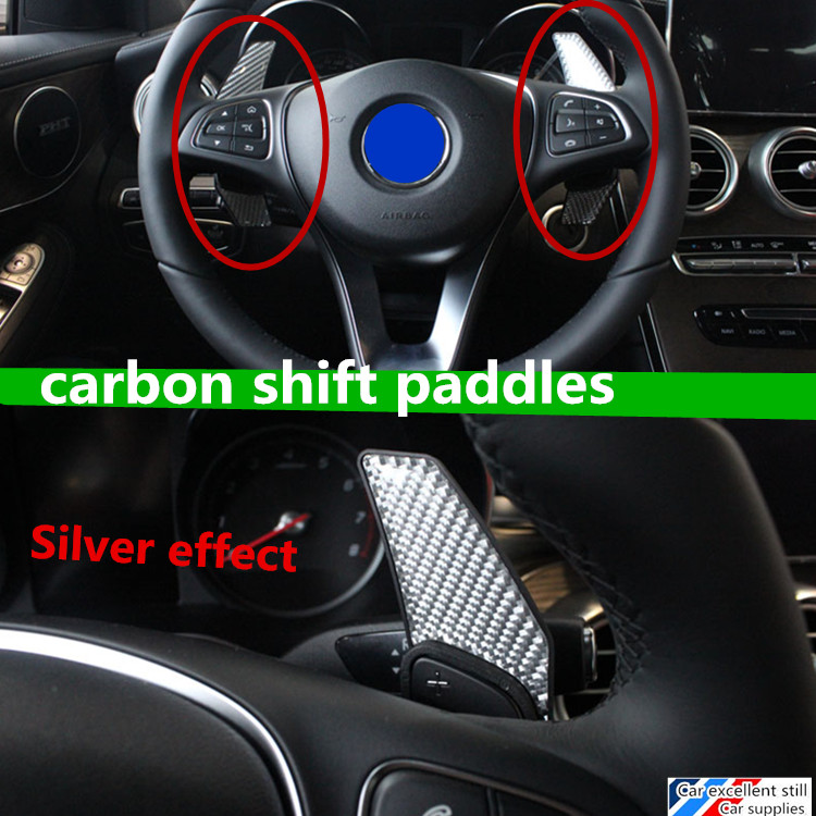 fit for C-Class 2015 C180L C200L C260L car carbon fibre steering wheel shift paddle shifter Extended type high-quality(China (Mainland))