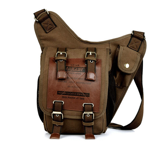 New Brand Unisex Casual Canvas Messenger Bags Men Bag Waist Pack Shoulder Bags(China (Mainland))