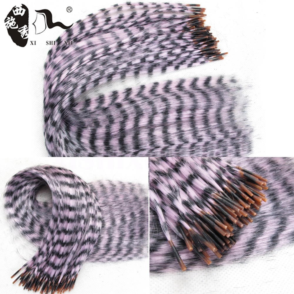 """100pcs Feather Extension For Hair Multicolor 16"""" Rainbow Hair Extension Colorful Straight Grizzly Feather Hair Extensions(China (Mainland))"""