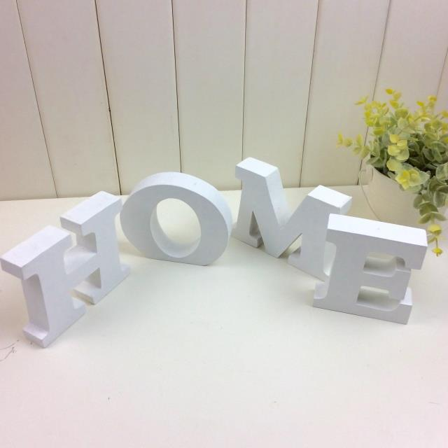 Free Standing Pure White Wooden HOME Decoration Letter(China (Mainland))