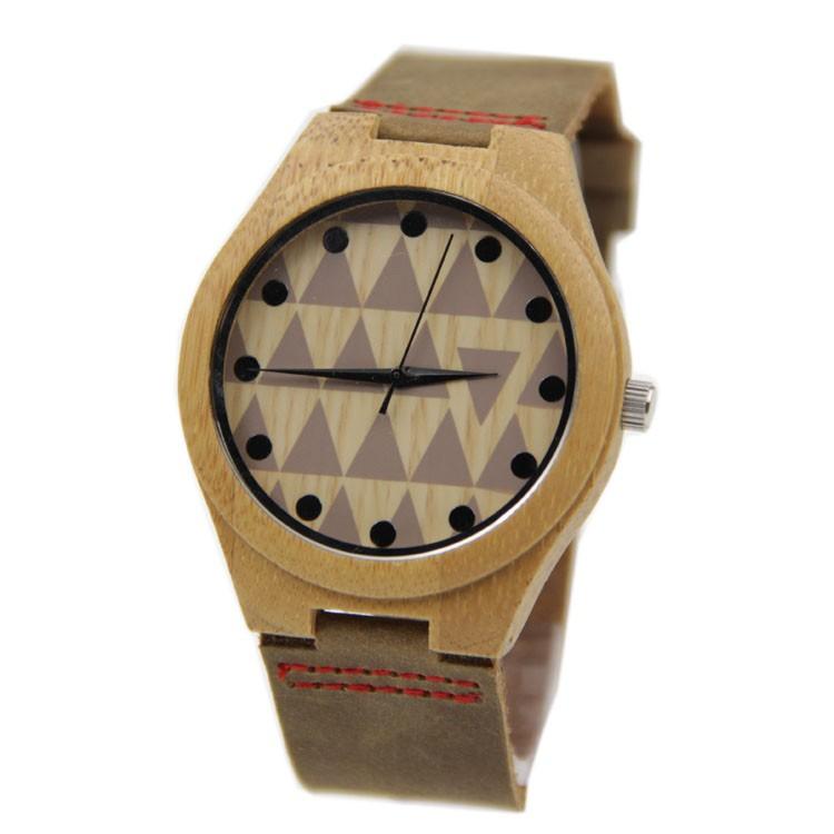 Горячий Продавать Японский MIYOTA Движение Наручные Часы Натуральная Кожа Бамбук Деревянные Часы Для Мужчин И Женщин деревянные часы
