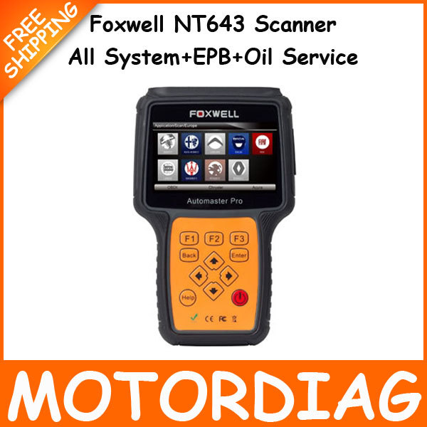Foxwell NT643 AutoMaster Pro FR&IT-Make All System EPB Oil Service Scanner Automotive Professional Car Diagnostic Tool Universal(China (Mainland))