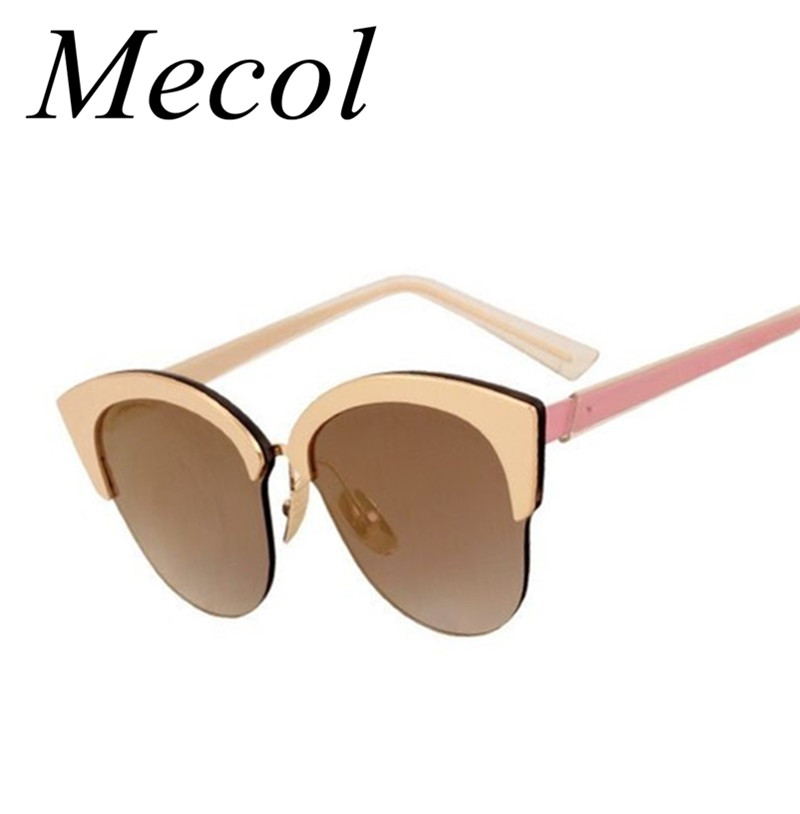 Mecol Newest Alloy Frame Sunglasses Women Top Quality Cat ...