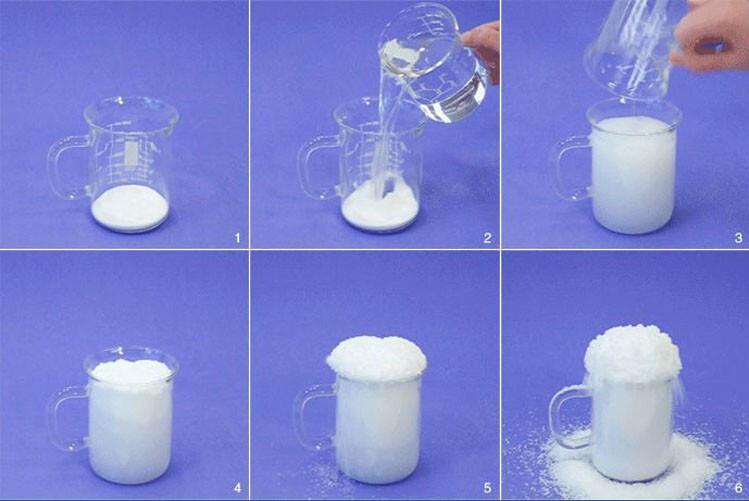 Как в домашних условиях сделать искусственный снег
