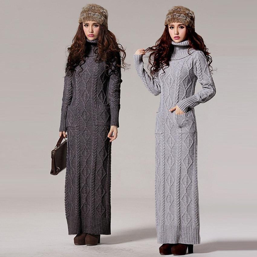 Plus size maxi sweater dress