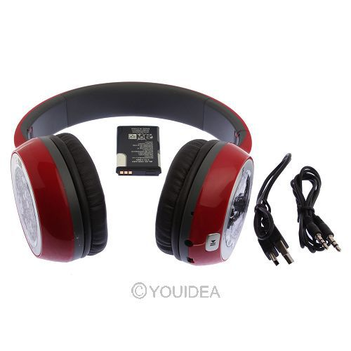 Foldable ON Ear Headphone Studio Wireless Headphone Earbuds Noise Canceling Headset MP3 Player FM TF Card Red(China (Mainland))