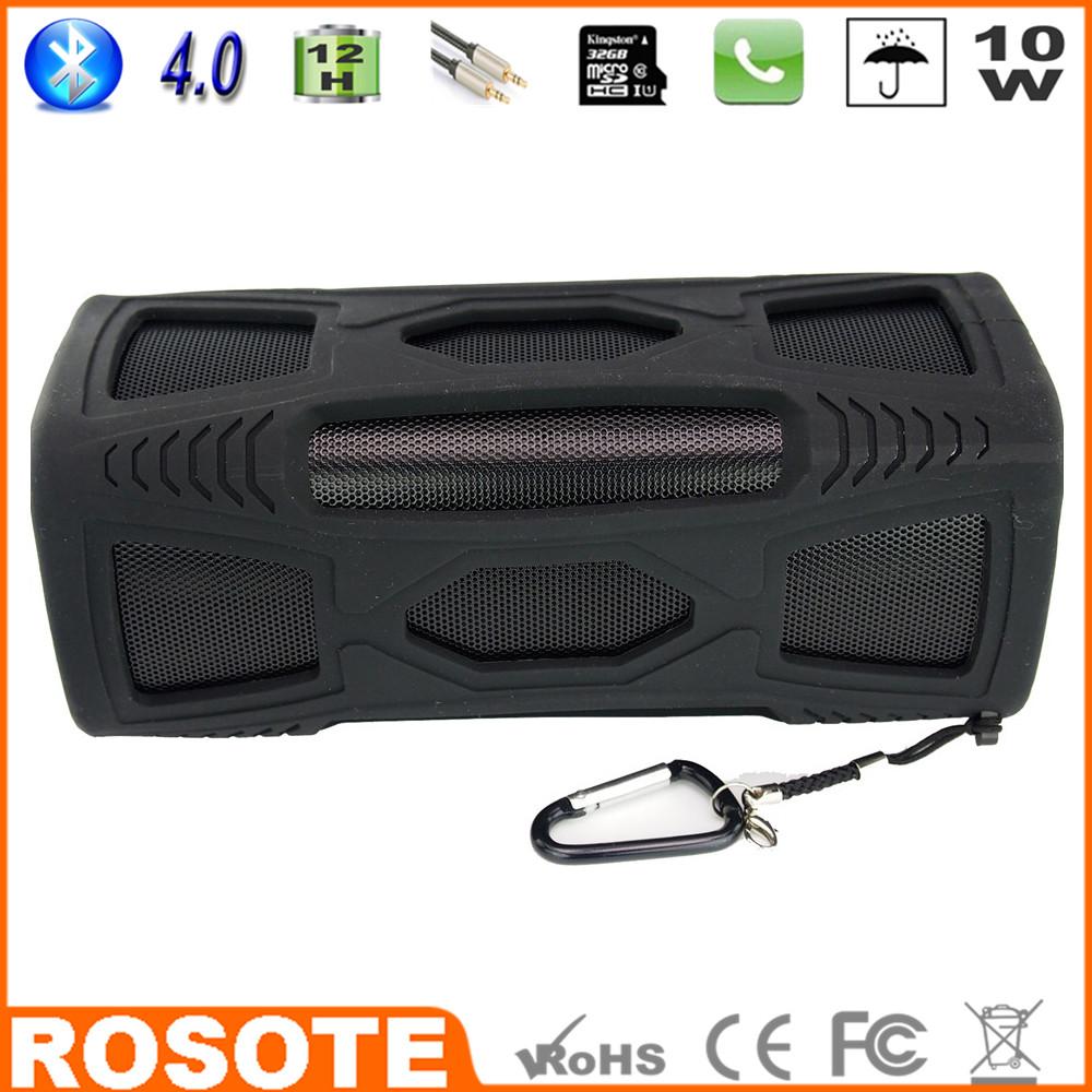 Free Shipping 2015 Waterproof 10W Super Bass Portable HI-FI tower my vision mini digital Bluetooth 4.0 speaker(China (Mainland))