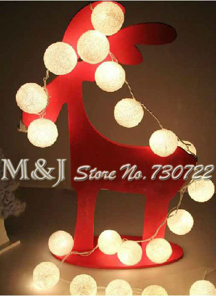 35 Balls/Set Classic Rice White Cotton Ball Wedding/Party Celebration Chandeliers Good Collocation Indoor Christmas Decoration(China (Mainland))