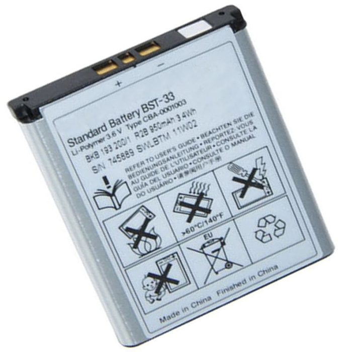 Original BST 33 BST 33 BST33 Phone Battery for Sony Ericsson K530 K550 K550i K630 K660i