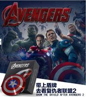 2015 Markdowns! power bank 6800mAh USB / The Avengers Captain America Shield Charge Mobile Power Supply portable charger