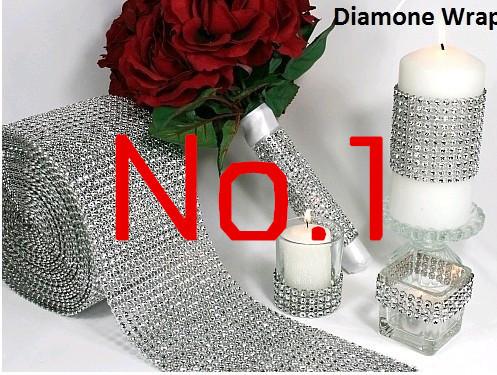 Decoraci n de boda 4 75 x 1 patios plata diamante mesh for Articulos de decoracion para casa