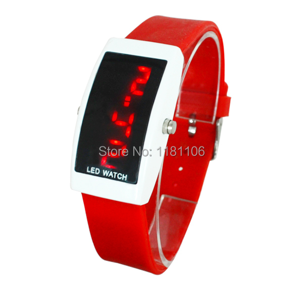 , creative LED electronic watch digital display backlight, silica gel charm Sports Watch - 13413630 store
