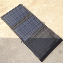 High Quality 7W Portable Solar Charger For Mobile Phone Mono Solar Panel Foldable USB Battery Charger Bag NEW Free Shipping