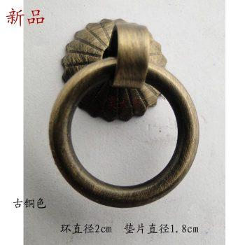 2016 Hot-sale Chinese antique furniture drawer handles copper doors classic tea pots ring Handle screw accessories(China (Mainland))