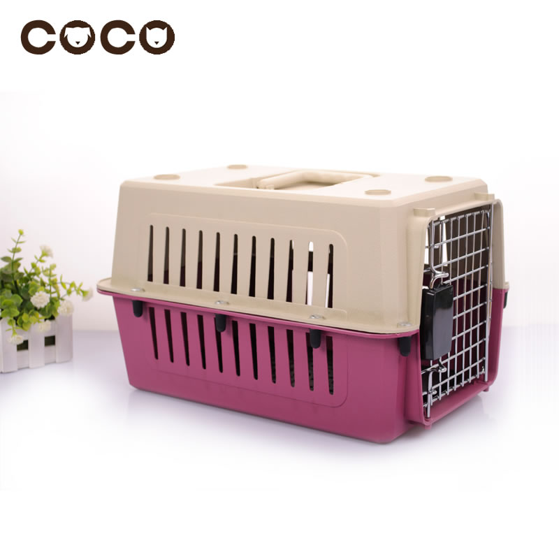 2015 New Useful Pet Carrier Portable Cat Travel Bag Small Dog Flight Case Pet Carrier Cage Pet Air Box Dog Bags Small Medium Dog(China (Mainland))