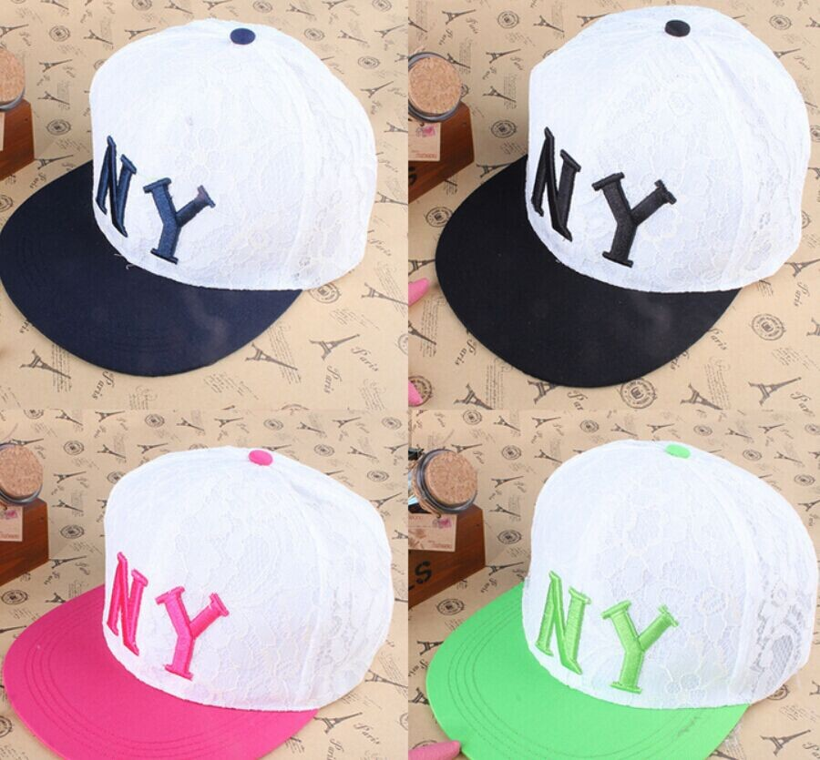 NY lace embroidery letters baseball cap Korean fashion joker temperament casual snapback bucket hat New Brand Accessories(China (Mainland))
