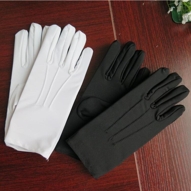2015 spring and Summer men's thin Large white Etiquette gloves male plus size elastic gloves wholesale