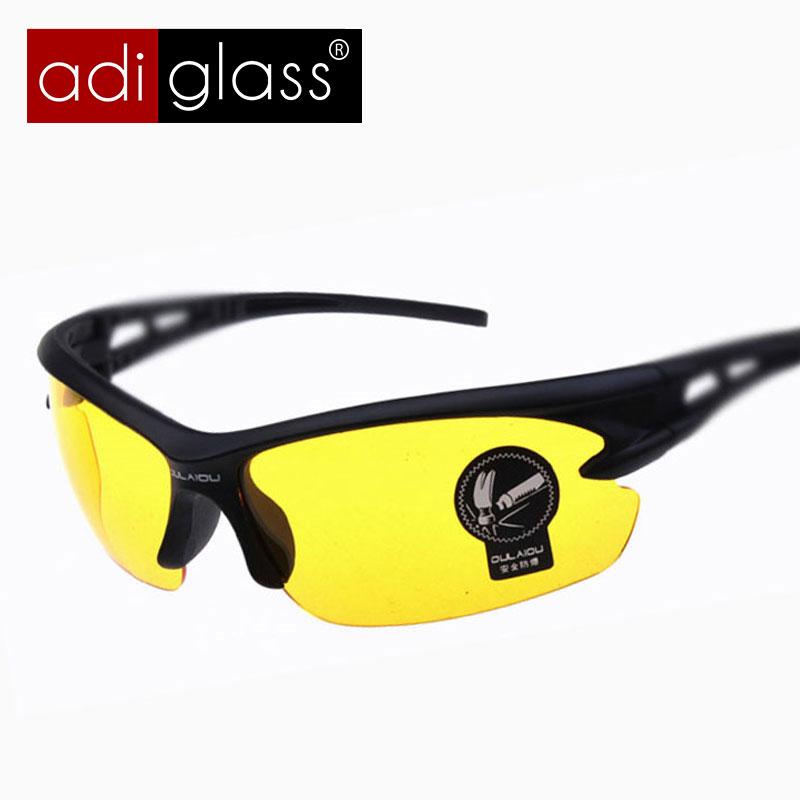 Adiglass Brand 2016 Fashion Sport Night Vision Driving Glasses Men's Sunglasses Eyewear Summer Outdoor Sunglasses Oculos de sol(China (Mainland))