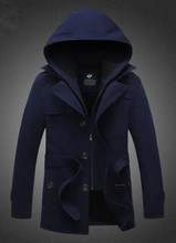 2015 New Fashion Men Trench Coat Warm Outerwear Casual Men Jacket With Big Size M-5XL Men Overcoat(China (Mainland))