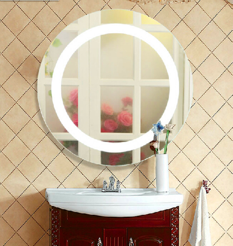 silver bathroom led mirror light  mirror + led lamp modern wall lamp makeup wall Sconce Dressing room bedroom led wall light(China (Mainland))