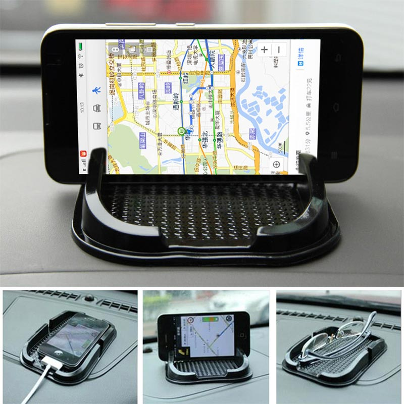 JEREFISH Black Car Dashboard Sticky Pad Mat Anti Non Slip Gadget Mobile Phone GPS Holder Interior Accessories 2357(China (Mainland))