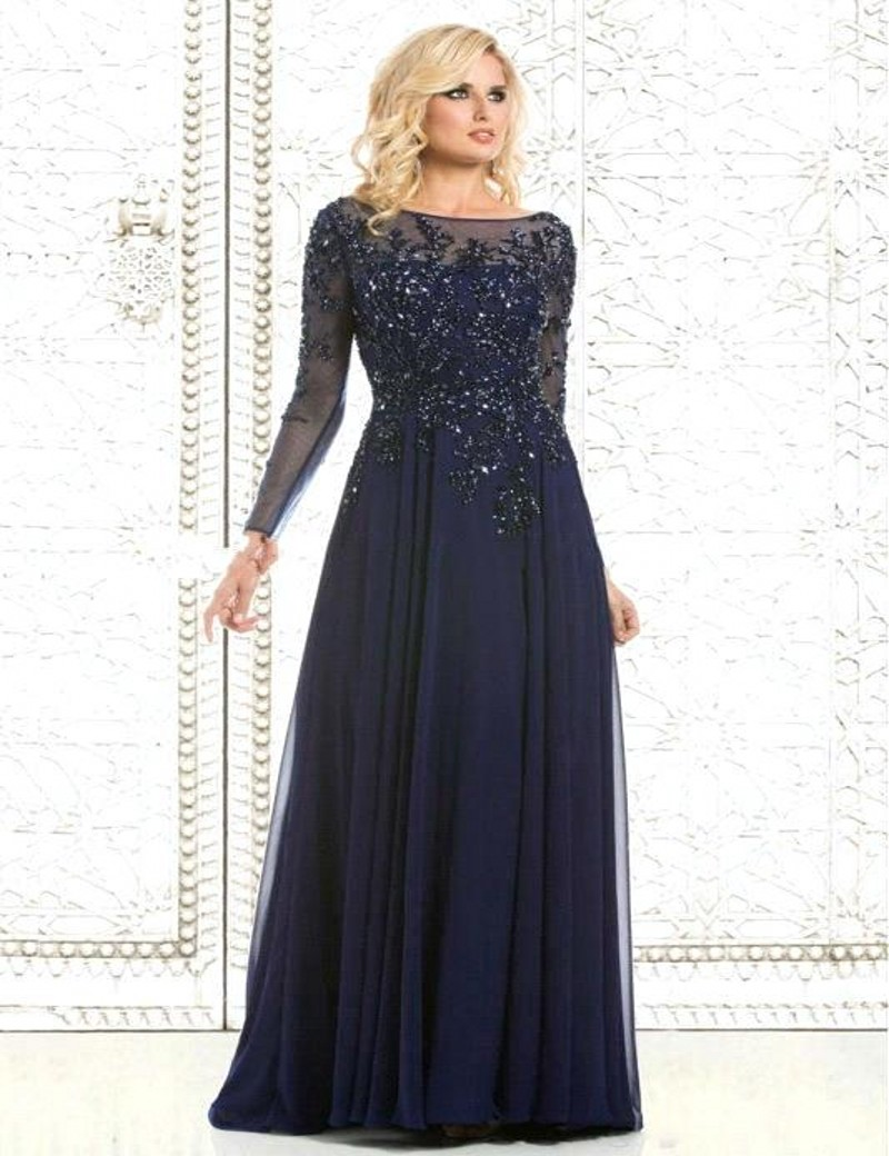 abendkleider vintage o neck long sleeve chiffon evening dresses 2016 appliques beaded lace women. Black Bedroom Furniture Sets. Home Design Ideas