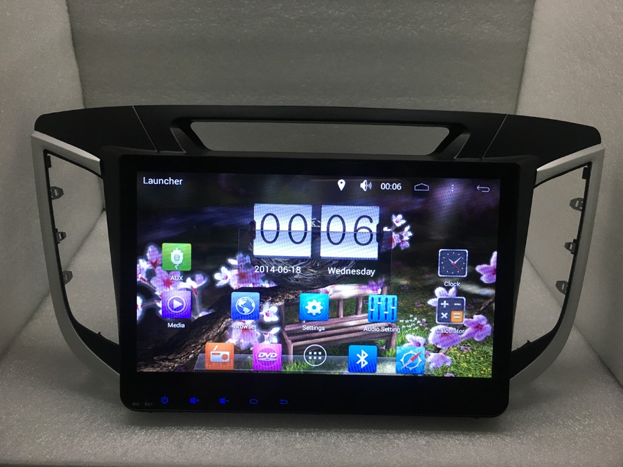 for hyundai ix25 Pure android 4.4.4  quad-Core 10.1inch 1024X600 Capacitive screen 1.7GHZ ,GPS Radio headunit Mirror Link WIFI