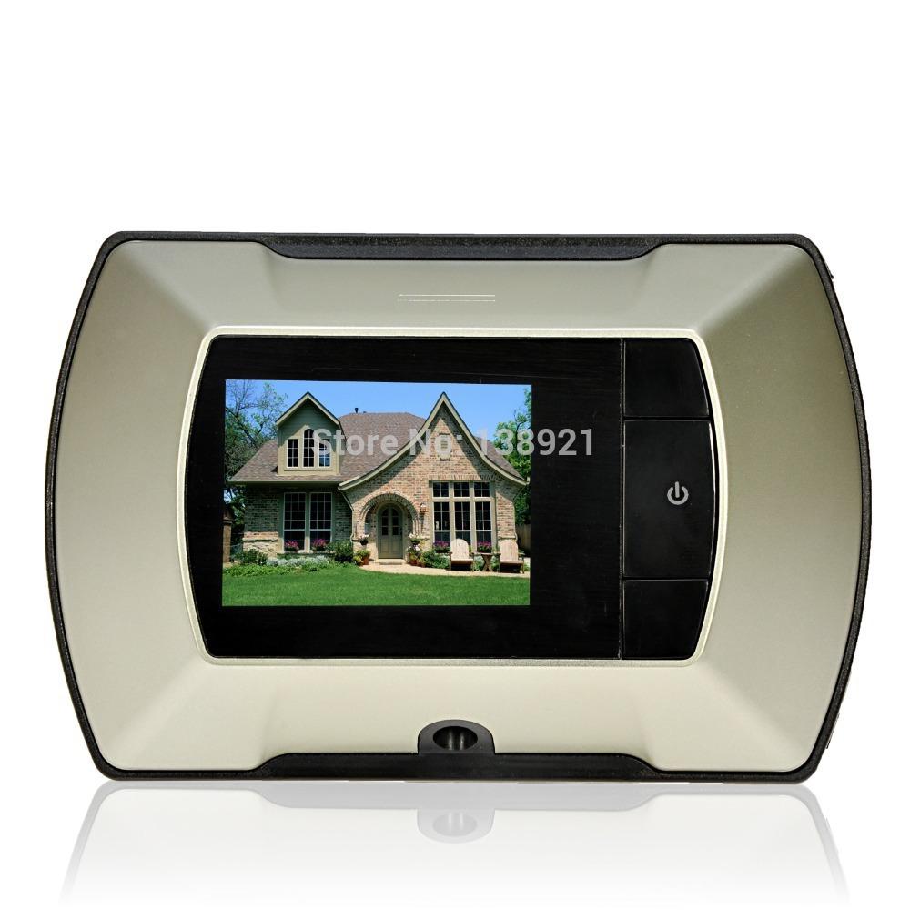 Wireless digital door peephole viewer high resolution for Door viewer camera