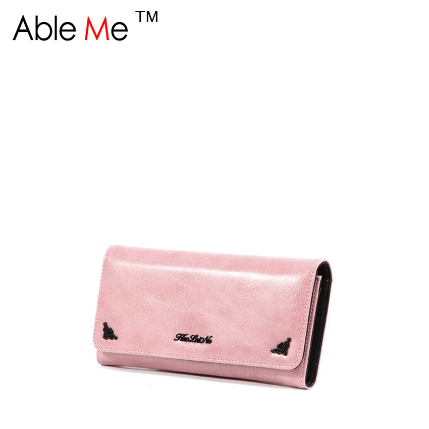 2016 New Fashion Trend Wallet Multi-Card Holder Three Fold Purse European And American Vintage Clutch Bag Women Wallet(China (Mainland))