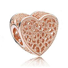 AIFEILI Fit бусины Pandora Браслеты 2019 новые весенние серебряные ювелирные изделия Сердце Бумага самолет Подвески Серебряные бусина в виде бабочки(China)