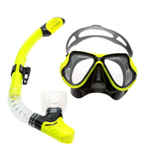 Professional Adult Scuba Snorkeling Swimming Set Anti-Fog Tempered Glass Diving Mask Goggles + Silicone Full Dry Snorkel Tube(China (Mainland))