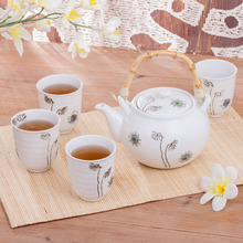 Japanese style ceramic and wind dancingly beam pot tea set teaports big cup large capacity