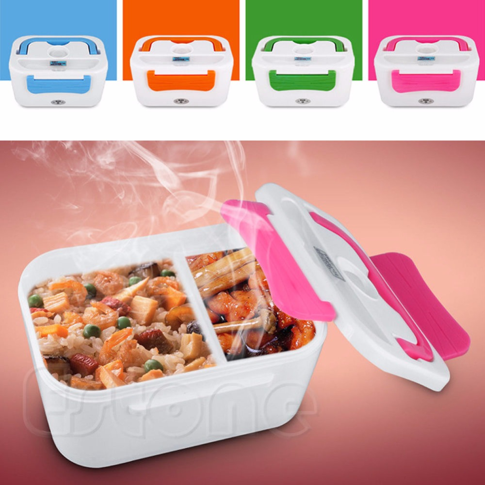 New Portable Electric Heated Portable Compact Food Warmer Lunch Box Bento Box US plug(China (Mainland))