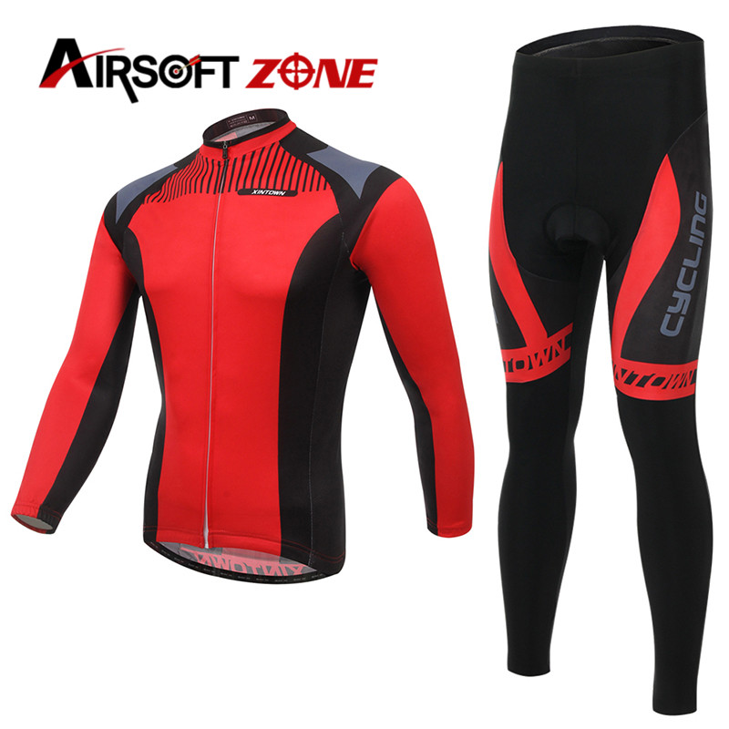 Riding Cycling Clothing Bicycle Jerseys Set Windproof Long Sleeve Bike Jacket + Pants Set Outdoor Pants for Men Women Clothes