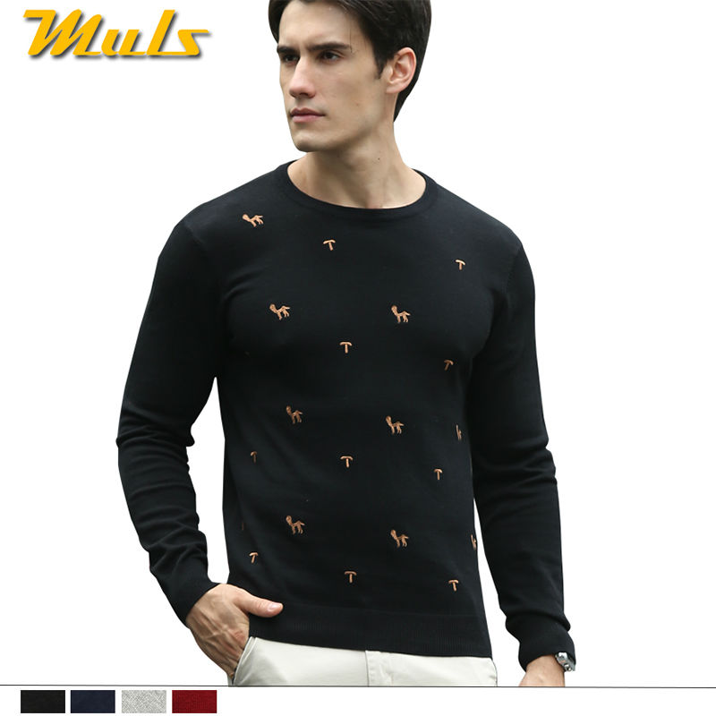 Men sweater with deer embroidery cotton christmas pullover mens clothing brand red rl polo in European American style 88885(China (Mainland))