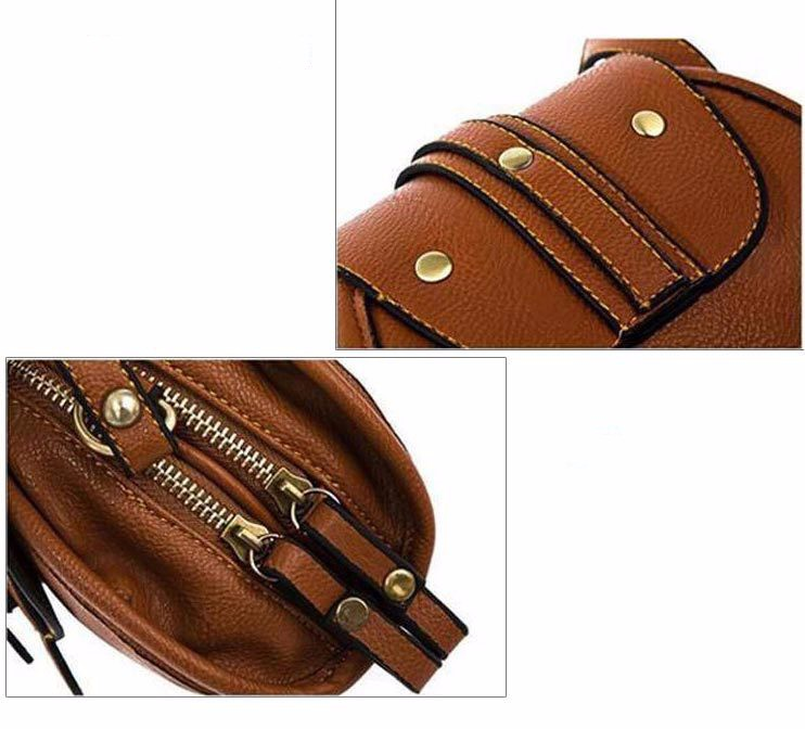 W.D.POLO Mini Pu Saddle handbags lolli girls easy matching shoulder bags typically vintage brown retro color and design M1724