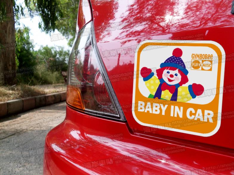 Tin warning baby Gymboree Gymboree sticker BABY IN CAR reflective car sticker(China (Mainland))