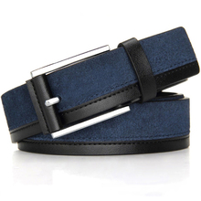 Buy Fashion genuine leather men belt pin buckle suede leather designer belts men high decorate jeans free for $20.14 in AliExpress store