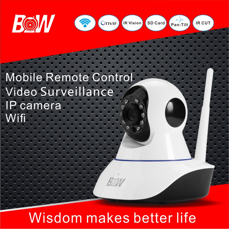 Wifi Infrared Camera IP Home Alarm System CCTV Security 720P P2P Full HD Monitoring Camera 2 Way Audio APP Remote Control BW02S(China (Mainland))