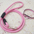 1pc Dog Leash Set 1 0 Teddy Leash Dog Chain Leather Traction Rope Small Dogs