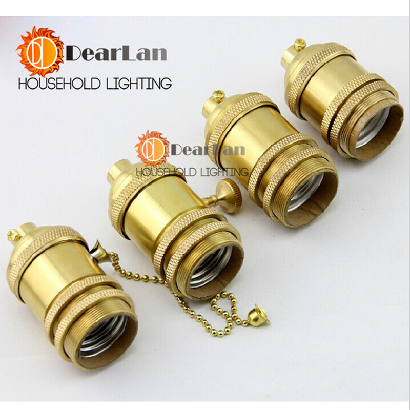 Price Vintage E26/E27 Lamps Socket Holder/Base Antique Light Bulb,Copper Lamp Holder,4 Models Choise(HJ-12) - Dearlan HOUSEHOLD LIGHTING STORE store