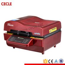 double station logo efficient heat press machine hot sale