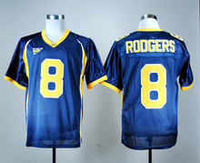 Cheap Sale 8 Aaron Rodgers California Golden College All Stitched Navy Blue Yellow(China (Mainland))