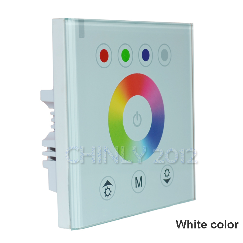 DIY home lighting NEW RGBW LED Touch Panel Controller led dimmer for DC12V LED Neon flex strip lights(China (Mainland))