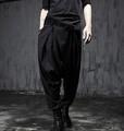 HOT 2016 New Spring elastic waist novelty harem pants boot cut Nightclubs hair stylist trousers singer