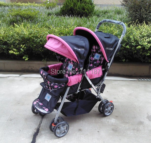 Updated Version Newest Design Cart Twin Babies,Competitive Price Children Double Buggy,Twins Stroller on Sale<br><br>Aliexpress