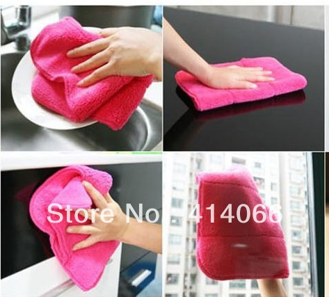 Micro Fiber Cleaning Cloth for Kitchen,car,Lens Screen,Eyeglass Magic multi-function wipping/cleaning rag Free shipping(China (Mainland))