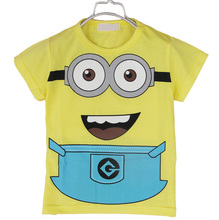 Bear Leader 2015 Despicable Me 2 Minion Boys Girls T-Shirts Kids Children T shirts Child Spring Hoodies Tops & Tees Casual(China (Mainland))