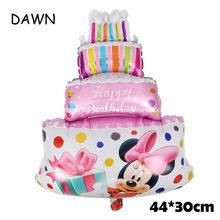 112 Cm Giant Mickey Minnie Mouse Balon Kartun Foil Pesta Ulang Tahun Balon Ulang Tahun Pesta Dekorasi Klasik Mainan Hadiah(China)