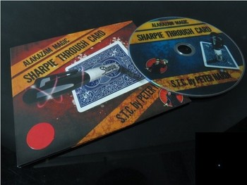 Sharpie Through Card - Trick, Free shipping, (only support special card, not include Sharpie pen)